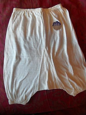 vintage Fine Quality cotton yarn ladies big knickers / bloomers with tag/sticker