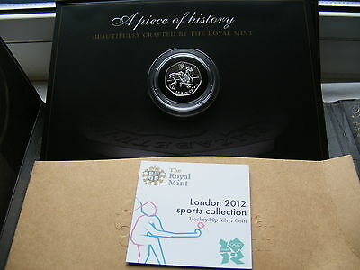 2012 London Olympics Sterling Silver 50p Fifty Pence Coin BUNC COA Hockey