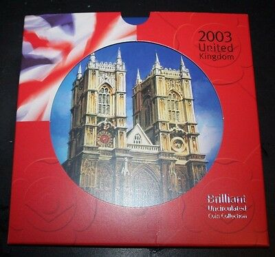 United Kingdom 2003 BUNC Ten Coin Collection In Presentation Pack