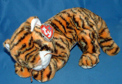 Ty Large Plush Beanie Buddy India ( the Tiger ) MWMT