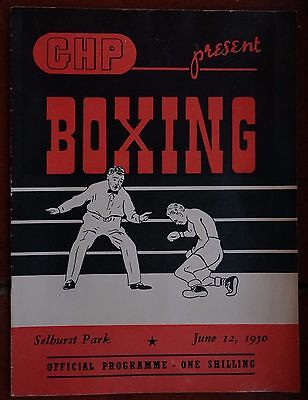 GHP Boxing official programe, Selhurst Park June 1950 with b/w photos of boxers