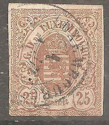 Luxembourg # 8 Used Fine Condition   2 Scans Genuine Guarantee