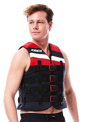 Gilet nylon 4Buckle Vest Red - Jobe 2017 - Norme CE ISO 50N -Taille XS à XXXL