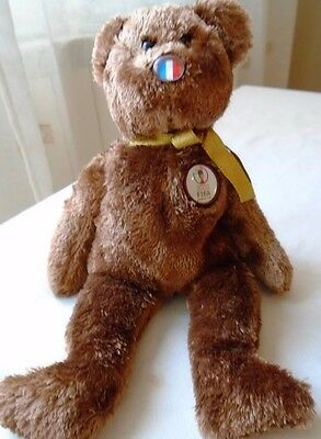 TY Beanie Baby tedy bear FRANCE World Cup 2002 Rare Original collectible soccer