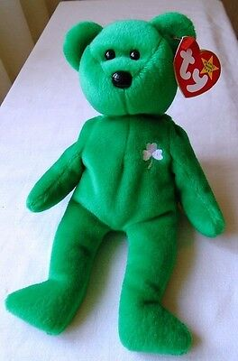 TY Beanie Baby Erin tedy bear Eire Celtic Rare and Original collectible with Tag