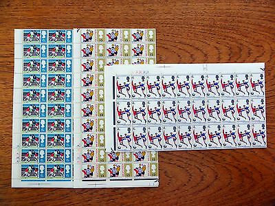 GB 1966 World Cup (3) Phosphor Complete Sheets of 120 Folded XZ128