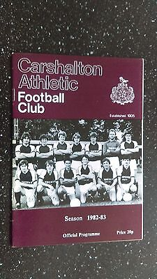 Carshalton Athletic V Bognor Regis Town 1982-83