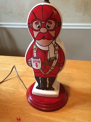 Vintage 1962 Seagram's Red Baron Gin Lamp