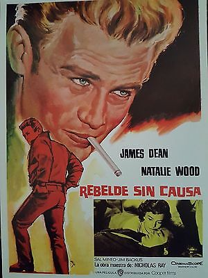 rebel without a cause  james dean original 1950's spanish oprogramme