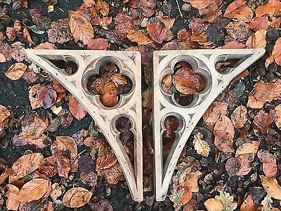 Reclaimed Wooden church corbels. Pair Hand Carved. Gothic Revival.