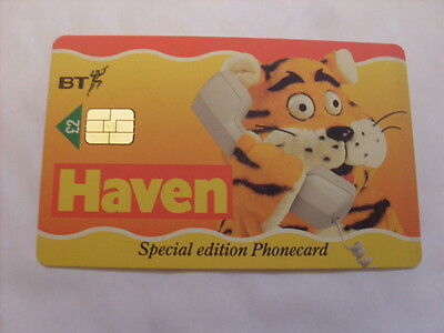 Bt Smart Phonecards Haven Holidays Card £2 Used