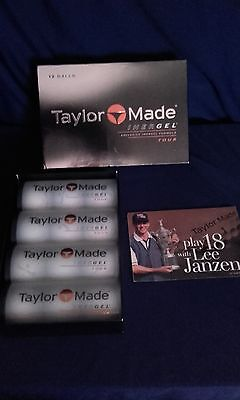 12 New Taylor Made Inergel Tour, circa 2000, Vintage Golf Balls