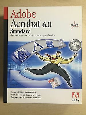 Adobe Acrobat 6.0 standard New boxed and sealed
