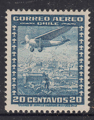 CHILE 1934 20c Air MINT LIGHT HINGED