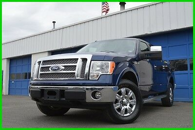 2010 Ford F-150 Lariat Super Crew Cab 5.4L 4X4 4WD Warranty Save Navigation Leather Heated Seats Sony Audio Full Power Options Tail Gate Step +++
