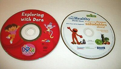 Exploring With Dora & Sesame Street The Get Healthy Show Two DVD's Ship Fast!