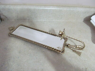 Beautiful Home Interior Twisted Rope Look Mirror Sconce / Candle Holder Euc