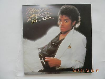 A vinyl LP by MICHAEL JACKSON titled THRILLER.