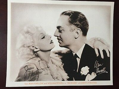 """Jean Harlow William Powell Original 1935 8x10 Promo For """"Reckless"""""""