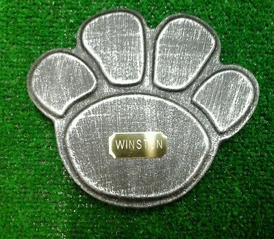 Dog or cat  Pet Memorial with plaque  headstone/stone/memorial paw