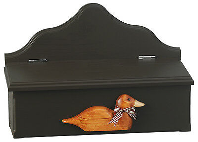 Pine WOOD mailbox with sculpted DUCK color:Mocha and honey gold