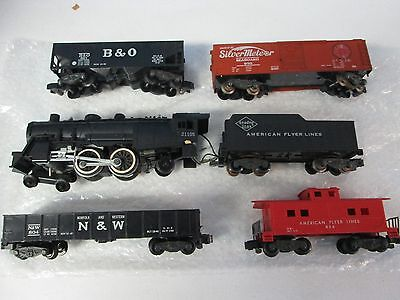 Lot of 6 American Flyer with 21105 Locomotive & Tender