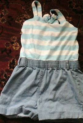 Childs top and shorts 1 piece young dimensions size 6-7 years