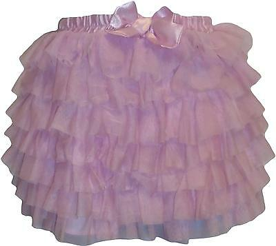 USED Girls Matalan Frilly Pink Skirt Size 4/5 Years (P.L)