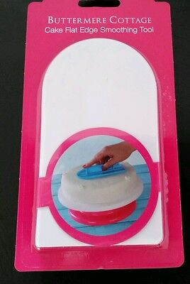 Flat Edge Cake Smoother Shaper Tool & Grip Handle Marzipan Icing Baking Cooking