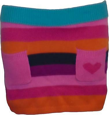 USED Girls H&M Multi Coloured Pocketed Skirt Size 6-8 Years (P.L)
