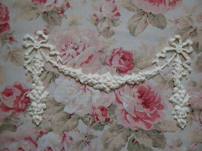 NEW! DAISY Swag ~ Drops ~ Ribbon Bows Architecural Furniture Applique Pediment