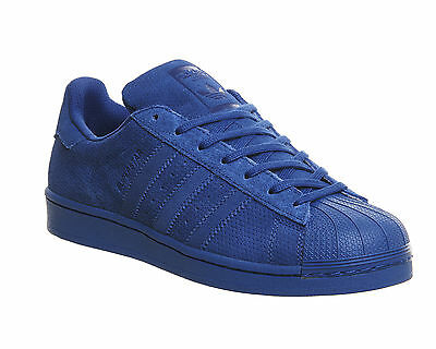 Mens Adidas Superstar 1 EQT BLUE MONO Trainers Shoes