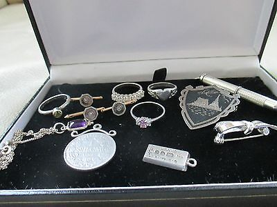 Interesting mixed lot of vintage silver and rolled gold