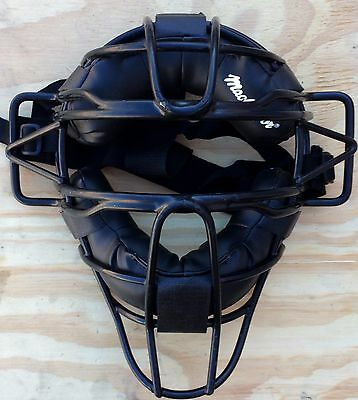 NEW MacGregor MCB 27 Umpire Catcher Mask Black Padded Extended Cage