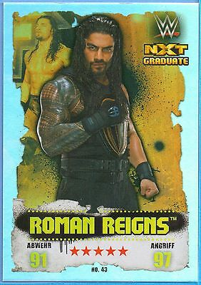 Topps WWE Slam Attax Takeover Karte Nr.43 Roman Reigns - Rainbow Foil