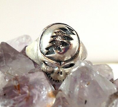 Sterling Silver Grateful Dead Steal Your Face Ring Phish Furthur Jerry Garcia