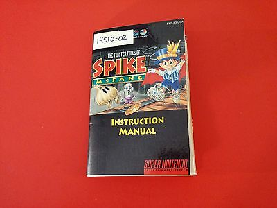 The Twisted Tales of Spike McFang [Manuals] LOOK PICTURES (Super Nintendo SNES)