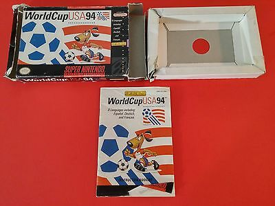 World Cup USA 94 [Box + Manual Only] (Super Nintendo SNES)