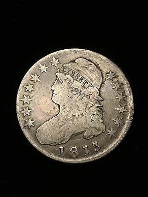 1813 Capped Bust half dollar, fifty cent piece, 50c