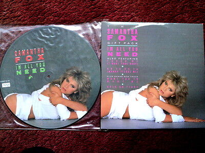 """Samantha Fox - I'm All You Need - 12"""" and 12"""" Picture Disc Single"""