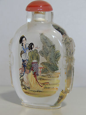 Vintage Chinese reverse painted Snuff bottle