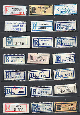 Registration / Registered Labels of the World. Mixture No. 6 (21 values)