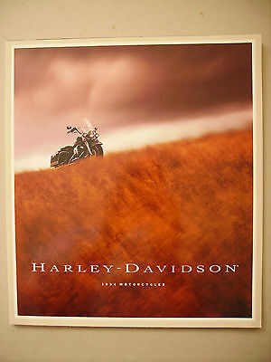 """1994 HARLEY-DAVIDSON Range of Motorcycles 11"""" x 12"""" sales brochure for the USA"""
