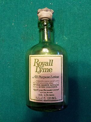 4oz Royall Lyme All Purpose Lotion Bermuda Green Glass Bottle  MUST SEE !!!