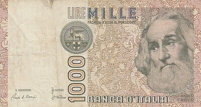 Italy banknote 1000 lire 1982-83