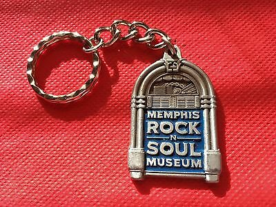 Memphis Rock & Soul Museum Pewter Key Chain from 2000