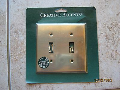 New Creative Accents Bright Brass 2 Toggle Switch Cover Wallplate Wall Plate