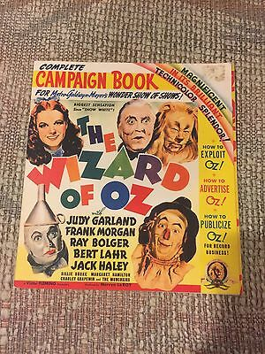 The Wizard of Oz Complete Campaign Book Promotions 2009 Reprint