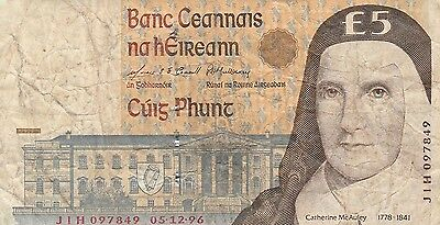 Ireland (South) banknote £5 1992-2001