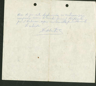 Fidel Castro Signed Aoutographed Hand Written 6x7 Letter PSA/DNA Authentic